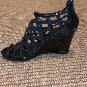 """Donald J. Pliner Shoes - Donald Pliner 4"""" black cage wedges"""